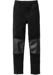 Pantalon extensible à empiècements genoux, bpc bonprix collection, noir