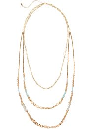 Collier Holiday Feelings, bpc bonprix collection, doré/turquoise