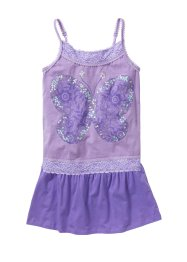 Top à paillettes + jupe (Ens. 2 pces.), bpc bonprix collection, violet/lilas