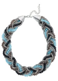 Collier Tresse, bpc bonprix collection, noir/gris/bleu