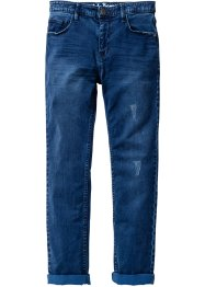 Pantalon Slim Fit ultra-doux, John Baner JEANSWEAR, bleu nuit used