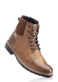 Bottines cuir, bpc bonprix collection, marron daim