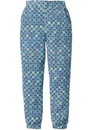 Pantalon imprimé Loose Fit, bpc bonprix collection, blanc/bleu glacier imprimé