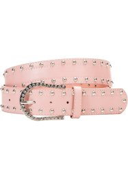 Ceinture clous et strass, bpc bonprix collection, rose