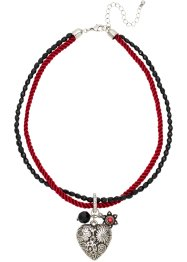 Collier Oktoberfest, bpc bonprix collection, rouge/noir