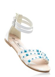 Sandales, bpc bonprix collection, blanc/turquoise