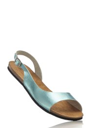 Sandales en cuir, bpc bonprix collection, vert pastel