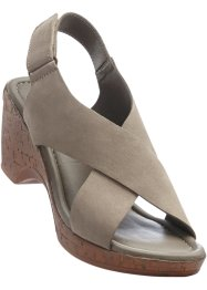 Sandales en cuir, bpc bonprix collection, taupe