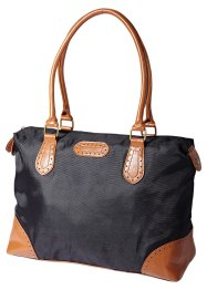 "Sac ""Loréna"", bpc bonprix collection, noir/cognac"