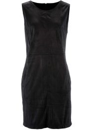 Robe en synthétique imitation cuir velours, bpc bonprix collection, noir