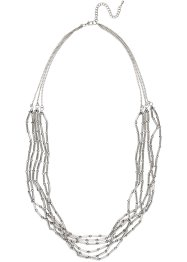 Collier multi-rangs, bpc bonprix collection, argenté/gris