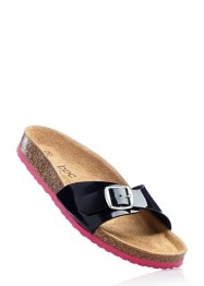 Mules, bpc bonprix collection, noir/fuchsia