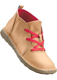 Bottines en cuir, bpc selection, camel/rouge