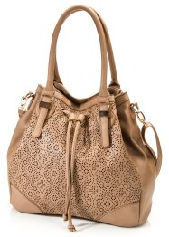 Shopper boule Lasercut, bpc bonprix collection, marron clair