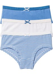 Lot de 3 boxers, bpc bonprix collection, bleu moyen/blanc