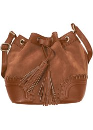 Sac bourse avec application, bpc bonprix collection, cognac