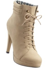 Bottines à lacets, BODYFLIRT, taupe