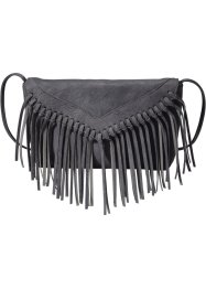Sac à bandoulière frangé, bpc bonprix collection, anthracite