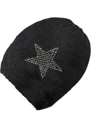 Parure en tricot Star, bpc bonprix collection, Bonnet noir