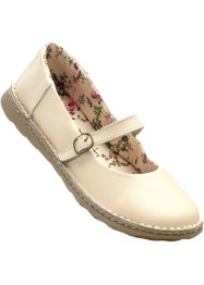 Ballerines en cuir, bpc bonprix collection, beige