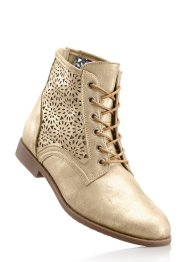 Bottines, bpc bonprix collection, beige métallique