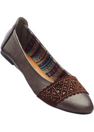 Ballerines, bpc bonprix collection, marron foncé