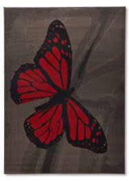 Tapis Stacy, bpc living, gris/rouge