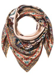 Foulard carré, bpc bonprix collection, beige/corail/vert