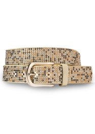 Ceinture à mini-rivets, bpc bonprix collection, beige