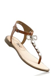Sandales cuir, bpc bonprix collection, cognac