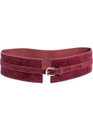 Ceinture extensible en synthétique imitation daim, bpc bonprix collection, bordeaux