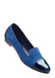 Ballerines en cuir, bpc selection, indigo