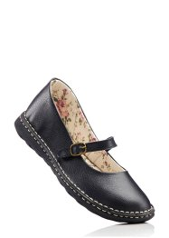 Ballerines en cuir, bpc bonprix collection, noir
