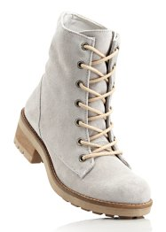 Bottines en cuir, bpc bonprix collection, gris clair