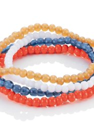 Set de 4 bracelets en perles, bpc bonprix collection, multicolore