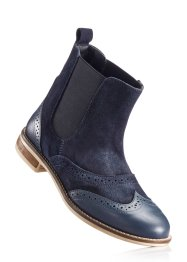 Bottines en cuir, bpc bonprix collection, marine