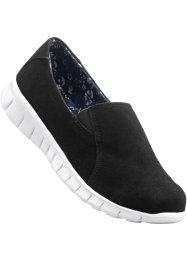 Slippers, bpc bonprix collection, noir/blanc