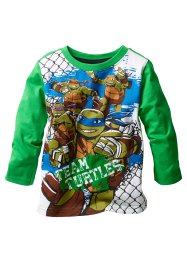 T-shirt manches longues TORTUES NINJA, Teenage Mutant Ninja Turtles, vert pelouse TORTUES NINJA