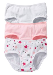 Lot de 3 culottes, bpc bonprix collection, blanc/rose poudré