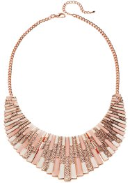 Collier Macey, bpc bonprix collection, crème/rose/doré rose