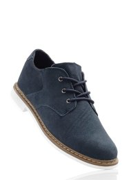 Derbies en cuir, bpc bonprix collection, bleu marine
