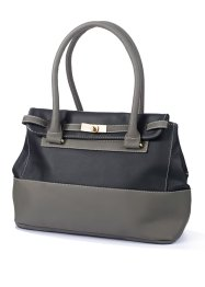 Sac à main, bpc bonprix collection, noir/gris