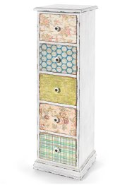 Commode Anike, 5 tiroirs, bpc living, multicolore