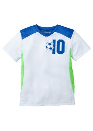 T-shirt fonctionnel, bpc bonprix collection, blanc/bleu azur/vert fluo