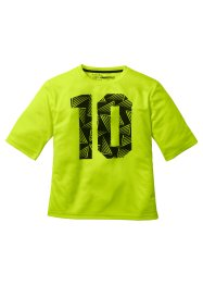 T-shirt fonctionnel, imprimé, bpc bonprix collection, jaune fluo