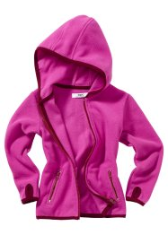 Gilet polaire à capuche, bpc bonprix collection, fuchsia