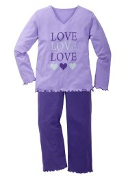 Pyjama (Ens. 2 pces.), bpc bonprix collection, parme/violet