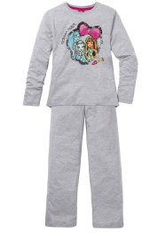 Pyjama MONSTER HIGH (Ens. 2 pces.), bpc bonprix collection, gris clair chiné
