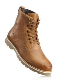 Boots en cuir, bpc bonprix collection, camel