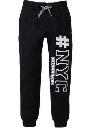 Pantalon sweat avec imprimé cool, bpc bonprix collection, noir